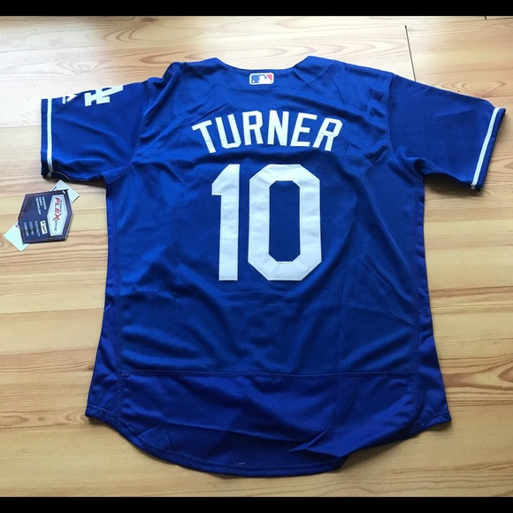 newest eef3c b6255 Los Angeles Dodger's #10 Turner New Blue Jersey NWT